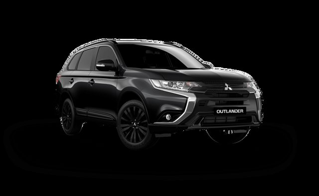 New Mitsubishi Outlander ZL MY21 Black Edition 2WD Hamilton, 2021 Mitsubishi Outlander ZL MY21 Black Edition 2WD Black 6 Speed Constant Variable Wagon