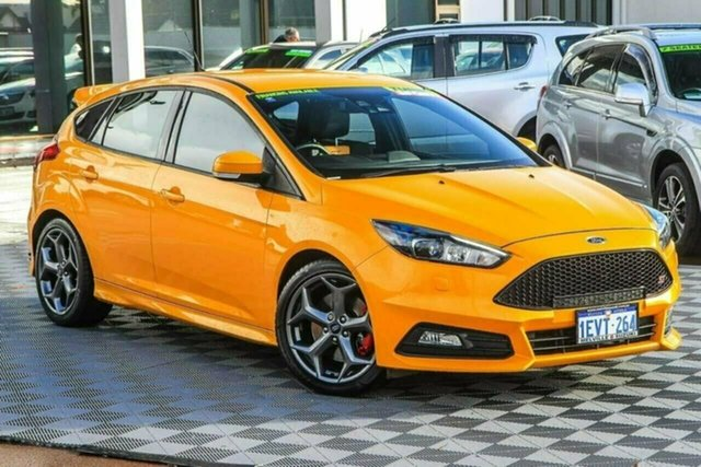 Used Ford Focus LZ ST Attadale, 2015 Ford Focus LZ ST Orange 6 Speed Manual Hatchback