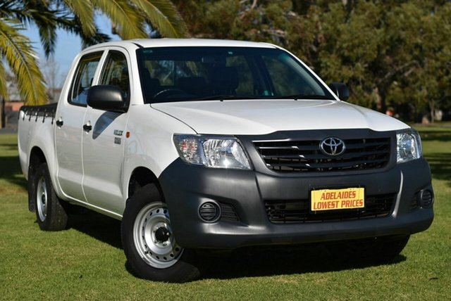 Used Toyota Hilux TGN16R MY14 Workmate Double Cab 4x2 Cheltenham, 2015 Toyota Hilux TGN16R MY14 Workmate Double Cab 4x2 White 4 Speed Automatic Utility