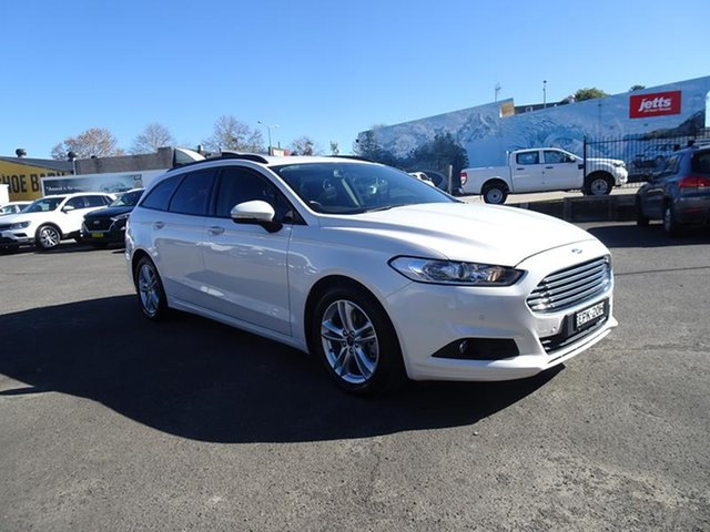 Used Ford Mondeo MD 2017.50MY Ambiente Nowra, 2017 Ford Mondeo MD 2017.50MY Ambiente Frozen White 6 Speed Automatic Wagon
