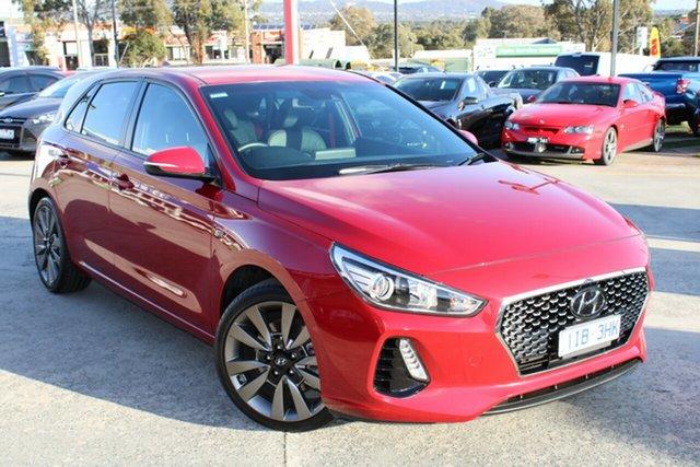 Used Hyundai i30 PD MY18 SR D-CT Ferntree Gully, 2017 Hyundai i30 PD MY18 SR D-CT Red 7 Speed Sports Automatic Dual Clutch Hatchback