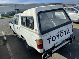 1992 Toyota Hilux LN86R White 5 Speed Manual Dual Cab Pick-up