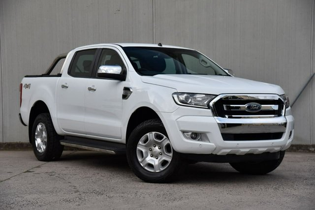 Used Ford Ranger PX MkII XLT Double Cab Oakleigh, 2017 Ford Ranger PX MkII XLT Double Cab White 6 Speed Manual Utility