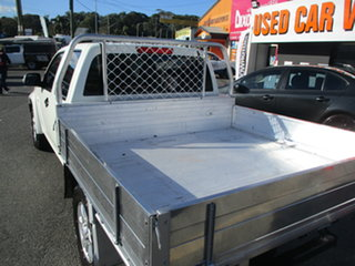 2009 Holden Colorado RC MY09 LX (4x4) White 5 Speed Manual Crew Cab Chassis