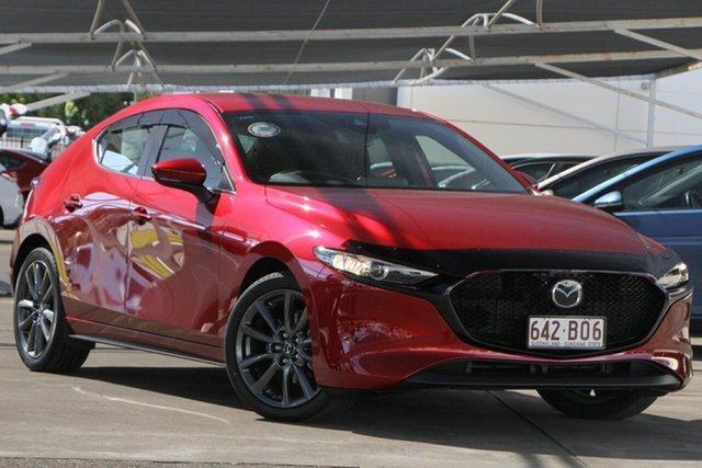 Used Mazda 3 BP2HLA G25 SKYACTIV-Drive Evolve Bundamba, 2021 Mazda 3 BP2HLA G25 SKYACTIV-Drive Evolve Red 6 Speed Sports Automatic Hatchback