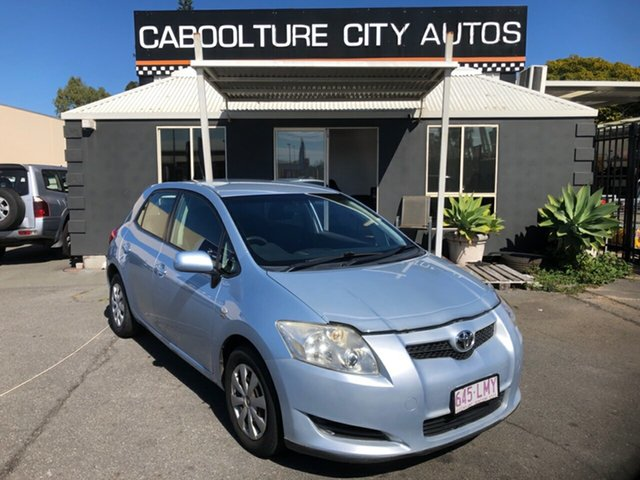 Used Toyota Corolla ZRE152R Ascent Morayfield, 2008 Toyota Corolla ZRE152R Ascent Blue 6 Speed Manual Hatchback