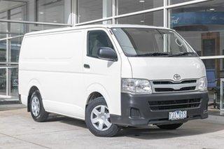 2010 Toyota HiAce TRH201R MY10 LWB White 5 Speed Manual Van.