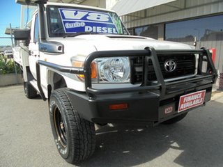 2014 Toyota Landcruiser VDJ79R MY13 Workmate White 5 Speed Manual Cab Chassis.