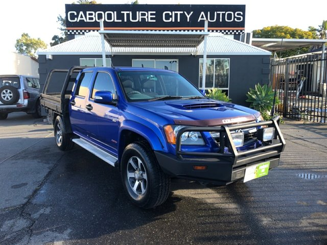 Used Holden Colorado RC MY09 LX (4x4) Morayfield, 2009 Holden Colorado RC MY09 LX (4x4) Blue 5 Speed Manual Crew Cab Chassis