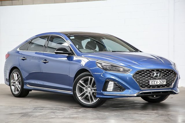Used Hyundai Sonata LF4 MY18 Premium Erina, 2018 Hyundai Sonata LF4 MY18 Premium Blue 8 Speed Sports Automatic Sedan
