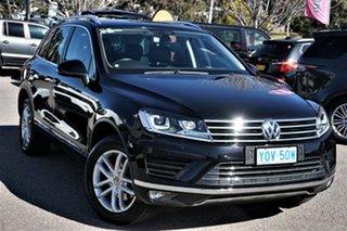 2016 Volkswagen Touareg 7P MY16 150TDI Tiptronic 4MOTION Element Deep Black 8 Speed Sports Automatic.