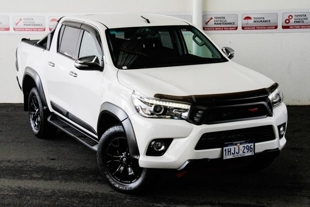 Pre-Owned Toyota Hilux GUN126R SR5 Double Cab Rockingham, 2017 Toyota Hilux GUN126R SR5 Double Cab Glacier White 6 Speed Sports Automatic Utility
