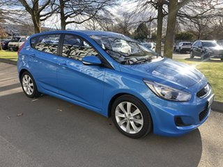 2017 Hyundai Accent RB4 MY17 Active Blue Lagoon 6 Speed Constant Variable Hatchback.