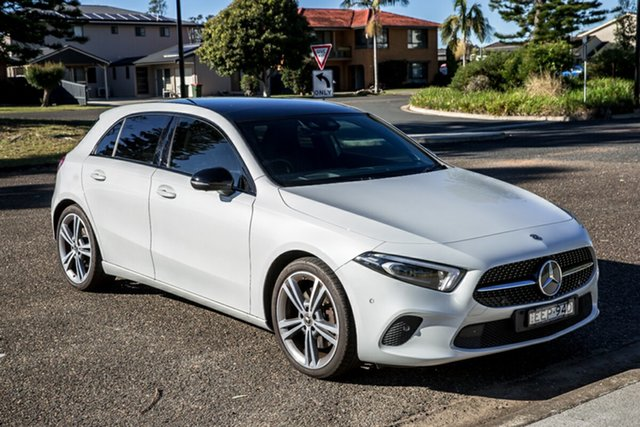 Used Mercedes-Benz A-Class W177 A250 DCT 4MATIC Limited Edition Port Macquarie, 2018 Mercedes-Benz A-Class W177 A250 DCT 4MATIC Limited Edition Digital White 7 Speed
