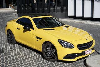 2019 Mercedes-Benz SLC-Class R172 SLC300 Sun Yellow 9 Speed Sports Automatic Convertible.