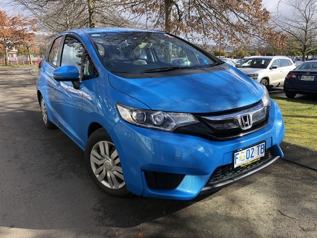 Used Honda Jazz GF MY15 VTi Launceston, 2015 Honda Jazz GF MY15 VTi Blue 1 Speed Constant Variable Hatchback