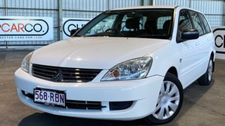 2007 Mitsubishi Lancer CH MY07 ES White 4 Speed Sports Automatic Wagon.