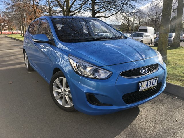 Used Hyundai Accent RB4 MY17 Active Launceston, 2017 Hyundai Accent RB4 MY17 Active Blue Lagoon 6 Speed Constant Variable Hatchback