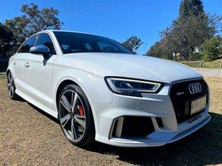 2017 Audi RS 3 8V MY17 S Tronic Quattro Glacier White 7 Speed Sports Automatic Dual Clutch Sedan.