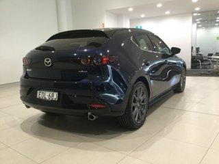 2021 Mazda 3 BP2HL6 G25 SKYACTIV-MT GT Deep Crystal Blue 6 Speed Manual Hatchback.