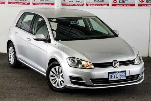 Pre-Owned Volkswagen Golf AU MY15 90 TSI Myaree, 2015 Volkswagen Golf AU MY15 90 TSI Silver 7 Speed Auto Direct Shift Hatchback
