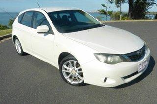2008 Subaru Impreza G3 MY08 R AWD White 5 Speed Manual Hatchback.