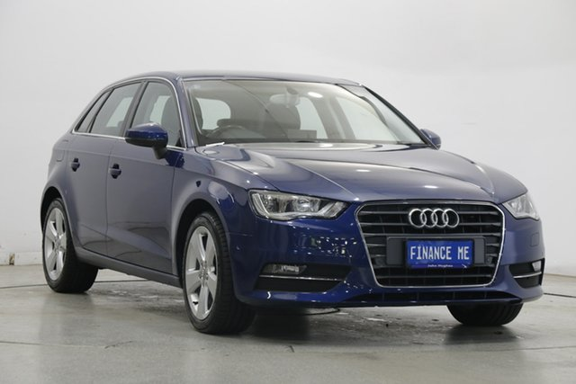 Used Audi A3 8V Ambition Sportback S Tronic Victoria Park, 2014 Audi A3 8V Ambition Sportback S Tronic Blue 6 Speed Sports Automatic Dual Clutch Hatchback