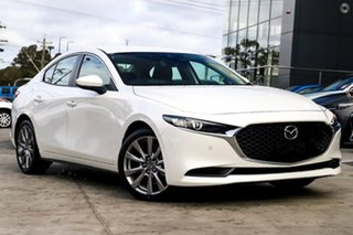 2021 Mazda 3 BP2SLA G25 SKYACTIV-Drive GT White 6 Speed Sports Automatic Sedan.