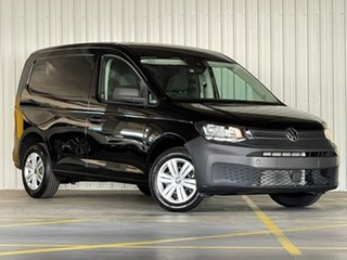 2021 Volkswagen Caddy SKN MY21 TDI320 Cargo Maxi DSG Black 7 Speed Sports Automatic Dual Clutch Van.