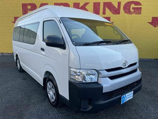 2016 Toyota HiAce KDH223R Commuter High Roof Super LWB White 5 Speed Manual Bus.