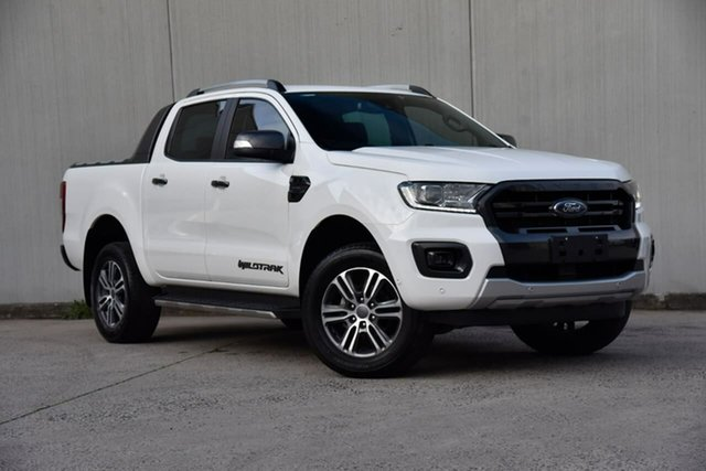 Used Ford Ranger PX MkIII 2020.25MY Wildtrak Oakleigh, 2020 Ford Ranger PX MkIII 2020.25MY Wildtrak White 10 Speed Sports Automatic Double Cab Pick Up