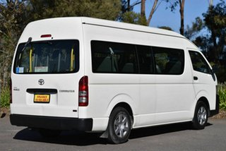 2010 Toyota HiAce KDH223R MY11 Commuter High Roof Super LWB White 4 Speed Automatic Bus