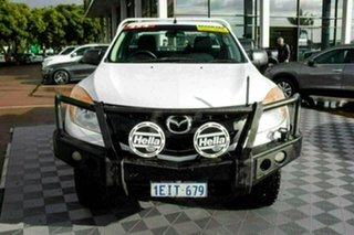 2013 Mazda BT-50 UP0YF1 XT White 6 Speed Manual Cab Chassis