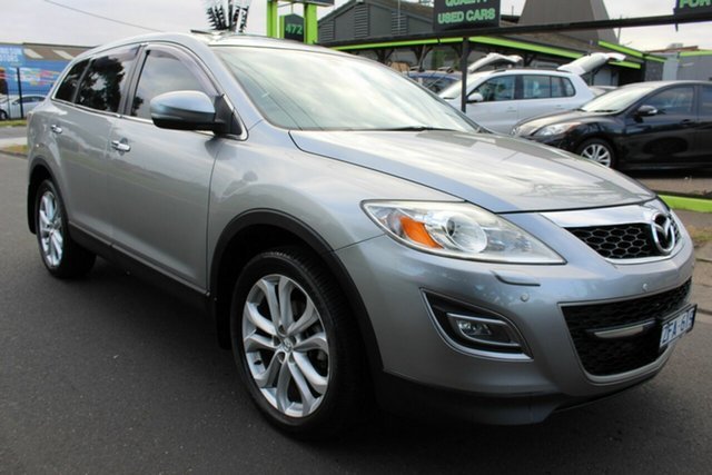 Used Mazda CX-9 TB10A4 MY12 Grand Touring West Footscray, 2012 Mazda CX-9 TB10A4 MY12 Grand Touring Silver 6 Speed Sports Automatic Wagon