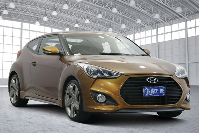 Used Hyundai Veloster FS2 SR Coupe Turbo Victoria Park, 2012 Hyundai Veloster FS2 SR Coupe Turbo Bronze 6 Speed Sports Automatic Hatchback