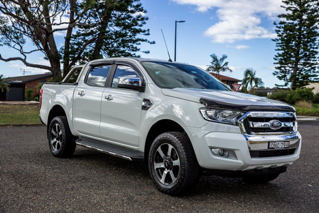 Used Ford Ranger PX MkII XLT Double Cab Port Macquarie, 2016 Ford Ranger PX MkII XLT Double Cab White 6 Speed Sports Automatic Utility