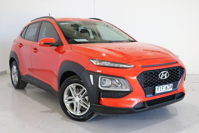 Used Hyundai Kona OS MY18 Active 2WD Wagga Wagga, 2017 Hyundai Kona OS MY18 Active 2WD Orange 6 Speed Sports Automatic Wagon