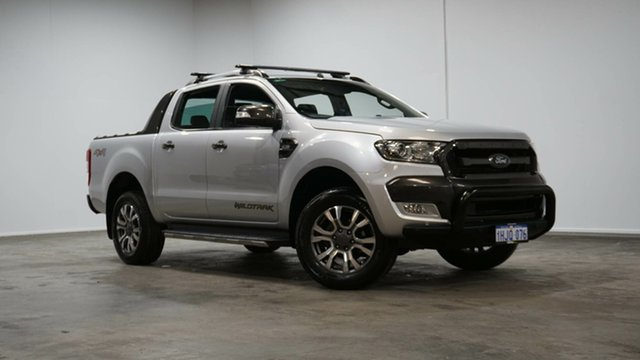 Used Ford Ranger PX MkII 2018.00MY Wildtrak Double Cab Welshpool, 2018 Ford Ranger PX MkII 2018.00MY Wildtrak Double Cab Silver 6 Speed Sports Automatic Utility