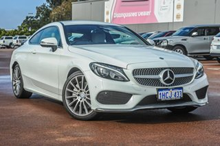 2016 Mercedes-Benz C-Class C205 C200 7G-Tronic + White 7 Speed Sports Automatic Coupe.
