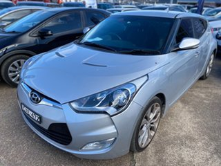 2013 Hyundai Veloster FS2 Coupe D-CT Sleek Silver 6 Speed Sports Automatic Dual Clutch Hatchback.