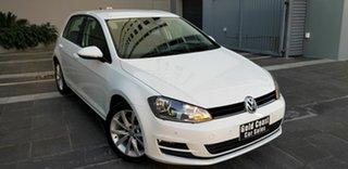 2013 Volkswagen Golf AU 110 TDI Highline White 6 Speed Direct Shift Hatchback.