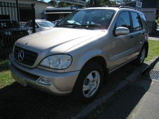 2004 Mercedes-Benz ML270 CDI W163 Luxury (4x4) Gold 5 Speed Auto Tipshift Wagon.