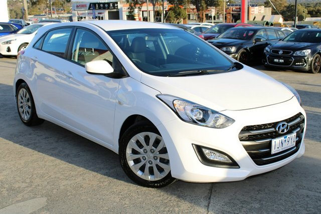 Used Hyundai i30 GD4 Series II MY17 Active Ferntree Gully, 2016 Hyundai i30 GD4 Series II MY17 Active White 6 Speed Sports Automatic Hatchback