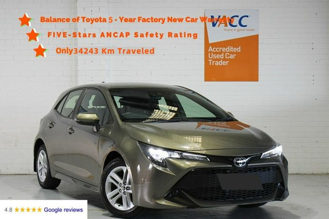 Used Toyota Corolla Mzea12R Ascent Sport Moorabbin, 2018 Toyota Corolla Mzea12R Ascent Sport Bronze 10 Speed Constant Variable Hatchback