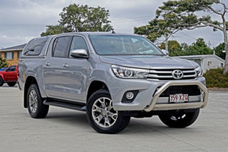 2018 Toyota Hilux GUN126R SR5 Double Cab Silver Sky 6 Speed Sports Automatic Utility.