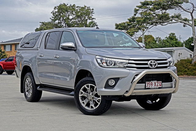 Used Toyota Hilux GUN126R SR5 Double Cab Capalaba, 2018 Toyota Hilux GUN126R SR5 Double Cab Silver Sky 6 Speed Sports Automatic Utility