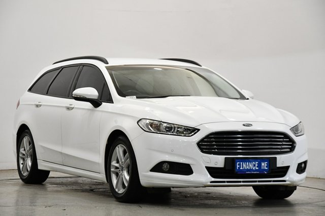 Used Ford Mondeo MD Ambiente Victoria Park, 2016 Ford Mondeo MD Ambiente White 6 Speed Sports Automatic Dual Clutch Wagon