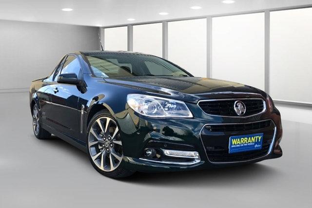 Used Holden Ute VF MY15 SS V Ute West Footscray, 2014 Holden Ute VF MY15 SS V Ute Green 6 Speed Manual Utility