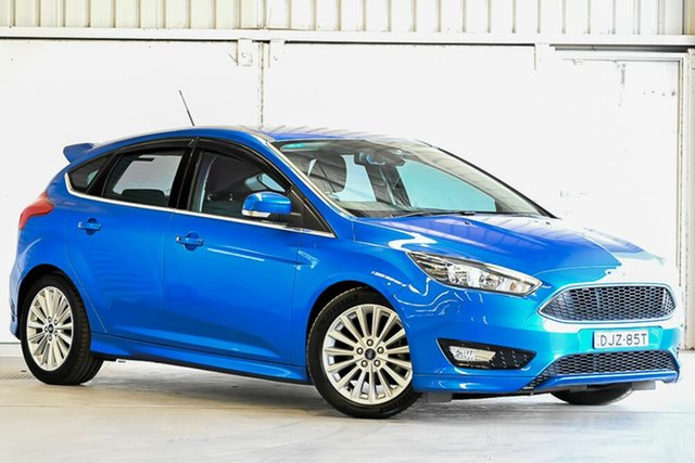 Used Ford Focus LZ Sport Laverton North, 2016 Ford Focus LZ Sport Blue 6 Speed Manual Hatchback