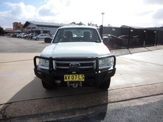 2008 Ford Ranger PJ 07 Upgrade XL (4x4) Abalone White 5 Speed Manual Dual Cab Chassis.